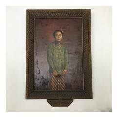 Painting of GKR Timur, which is the mother of late Gusti Nurul Kamaril, the infamous Princess from Mangkunegaran Palace