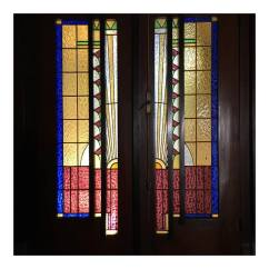 Great example of Art Deco stained glass