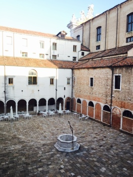 One of the main cloister, with ancient well