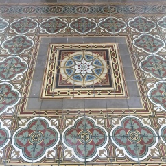 Beautiful tiles welcoming the visitors from the front terrace