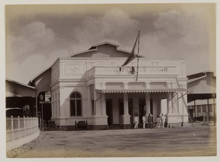 Foto dokumentasi Kassian Cephas, Stasiun Tugu tahun 1890an